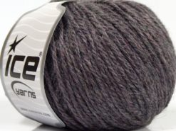 Lot of 8 Skeins Ice Yarns ALPACA LIGHT (18% Alpaca 20% Wool) Yarn Grey Purple