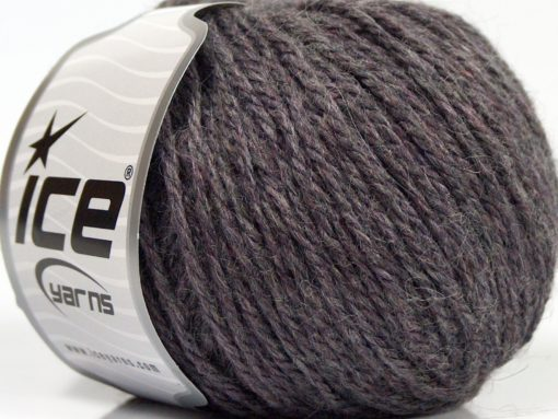 Lot of 8 Skeins Ice Yarns ALPACA LIGHT (18% Alpaca 20% Wool) Yarn Grey Purple