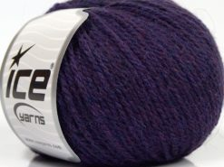 Lot of 8 Skeins Ice Yarns ALPACA LIGHT (18% Alpaca 20% Wool) Yarn Purple Melange