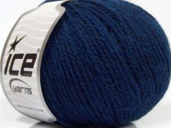 Lot of 8 Skeins Ice Yarns ALPACA LIGHT (18% Alpaca 20% Wool) Yarn Navy