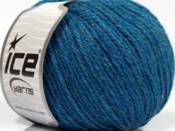 Lot of 8 Skeins Ice Yarns ALPACA LIGHT (18% Alpaca 20% Wool) Yarn Dark Turquoise