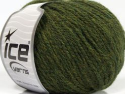 Lot of 8 Skeins Ice Yarns ALPACA LIGHT (18% Alpaca 20% Wool) Yarn Jungle Green