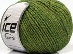 Lot of 8 Skeins Ice Yarns ALPACA LIGHT (18% Alpaca 20% Wool) Yarn Green