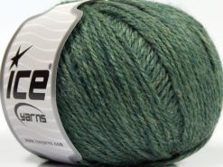 Lot of 8 Skeins Ice Yarns ALPACA LIGHT (18% Alpaca 20% Wool) Yarn Water Green