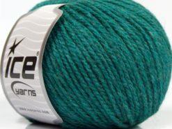 Lot of 8 Skeins Ice Yarns ALPACA LIGHT (18% Alpaca 20% Wool) Yarn Emerald Green