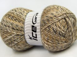 Lot of 2 x 150gr Skeins Ice Yarns HARMONY ALPACA (19% Alpaca 10% Wool) Yarn Cream Gold Grey