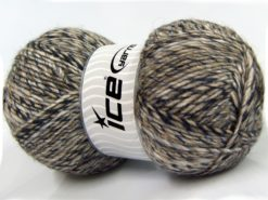 Lot of 2 x 150gr Skeins Ice Yarns HARMONY ALPACA (19% Alpaca 10% Wool) Yarn Navy Camel Grey