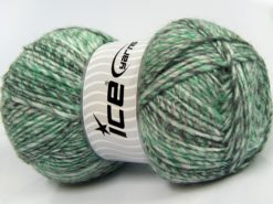 Lot of 2 x 150gr Skeins Ice Yarns HARMONY ALPACA (19% Alpaca 10% Wool) Yarn Grey Shades Green