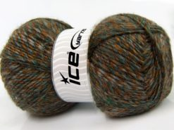 Lot of 2 x 150gr Skeins Ice Yarns HARMONY ALPACA (19% Alpaca 10% Wool) Yarn Brown Gold Green Grey