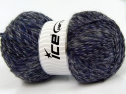 Lot of 2 x 150gr Skeins Ice Yarns HARMONY ALPACA (19% Alpaca 10% Wool) Yarn Black Purple Grey