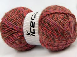 Lot of 2 x 150gr Skeins Ice Yarns HARMONY ALPACA (19% Alpaca 10% Wool) Yarn Salmon Camel Brown Lilac