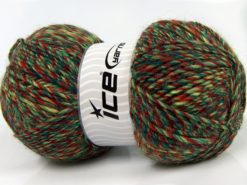 Lot of 2 x 150gr Skeins Ice Yarns HARMONY ALPACA (19% Alpaca 10% Wool) Yarn Green Shades Copper