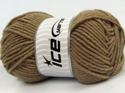 Lot of 4 x 100gr Skeins Ice Yarns MERINO CHUNKY Hand Knitting Yarn Camel