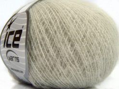Lot of 10 Skeins Ice Yarns SALE WINTER (20% Wool) Hand Knitting Yarn Light Grey