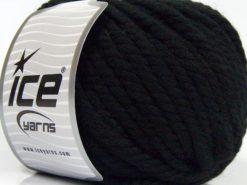 Lot of 3 x 100gr Skeins Ice Yarns JUMBO PURE WOOL (100% Wool) Yarn Black