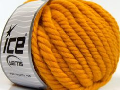 Lot of 3 x 100gr Skeins Ice Yarns JUMBO PURE WOOL (100% Wool) Yarn Gold