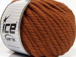Lot of 3 x 100gr Skeins Ice Yarns JUMBO PURE WOOL (100% Wool) Yarn Copper