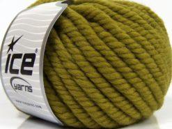 Lot of 3 x 100gr Skeins Ice Yarns JUMBO PURE WOOL (100% Wool) Yarn Jungle Green
