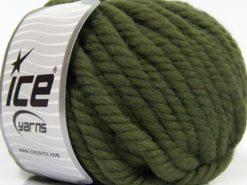 Lot of 3 x 100gr Skeins Ice Yarns JUMBO PURE WOOL (100% Wool) Yarn Khaki