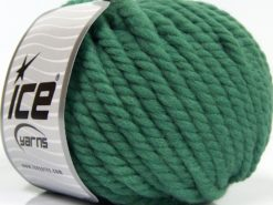 Lot of 3 x 100gr Skeins Ice Yarns JUMBO PURE WOOL (100% Wool) Yarn Green