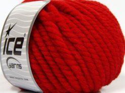 Lot of 3 x 100gr Skeins Ice Yarns JUMBO PURE WOOL (100% Wool) Yarn Red