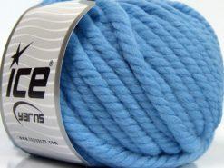 Lot of 3 x 100gr Skeins Ice Yarns JUMBO PURE WOOL (100% Wool) Yarn Light Blue