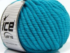 Lot of 3 x 100gr Skeins Ice Yarns JUMBO PURE WOOL (100% Wool) Yarn Turquoise