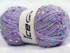 Lot of 3 x 100gr Skeins Ice Yarns SNOW FLAKE Yarn Lilac Shades Turquoise Beige