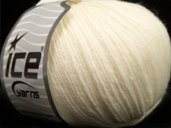 Lot of 4 Skeins Ice Yarns SALE LUXURY-PREMIUM (100% Superwash Wool) Yarn Light Cream
