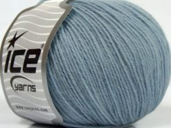 Lot of 4 Skeins Ice Yarns SALE LUXURY-PREMIUM (100% Superwash Wool) Yarn Light Blue