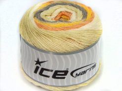Lot of 2 x 150gr Skeins Ice Yarns SALE CAKES YARN (25% Wool) Yarn Yellow Cream Shades Salmon