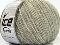 Lot of 3 x 100gr Skeins Ice Yarns SUPERWASH MERINO WOOL Yarn Light Grey Melange