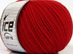 Lot of 3 x 100gr Skeins Ice Yarns SUPERWASH MERINO WOOL Hand Knitting Yarn Red