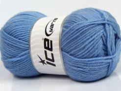 Lot of 3 x 100gr Skeins Ice Yarns SUPERWASH MERINO WOOL Yarn Light Blue