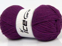 Lot of 3 x 100gr Skeins Ice Yarns SUPERWASH MERINO WOOL Yarn Purple
