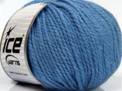 Lot of 3 x 100gr Skeins Ice Yarns PERUVIAN (25% Alpaca 25% Wool) Yarn Light Blue