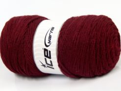 Lot of 2 x 200gr Skeins Ice Yarns SAVER Hand Knitting Yarn Burgundy