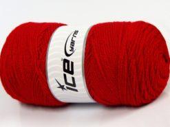 Lot of 2 x 200gr Skeins Ice Yarns SAVER Hand Knitting Yarn Red