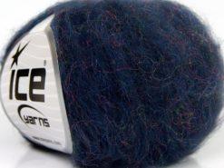 Lot of 10 Skeins Ice Yarns SALE WINTER (20% Mohair) Yarn Navy Purple Iridescent
