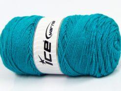 Lot of 2 x 150gr Skeins Ice Yarns SALE PLAIN Hand Knitting Yarn Turquoise