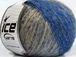 Lot of 8 Skeins Ice Yarns SALE WINTER (10% Wool) Yarn Blue Grey Camel