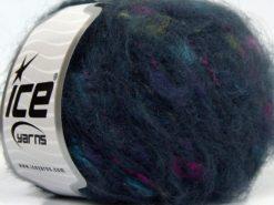 Lot of 8 Skeins Ice Yarns SALE WINTER (30% Wool) Yarn Dark Navy Fuchsia Green Turquoise