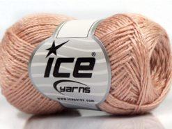 Lot of 8 Skeins Ice Yarns SALE METALLIC Yarn Light Salmon Iridescent
