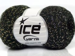 Lot of 8 Skeins Ice Yarns SALE METALLIC Hand Knitting Yarn Black Gold