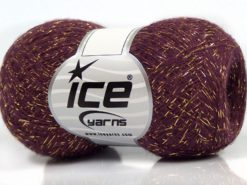 Lot of 8 Skeins Ice Yarns SALE METALLIC Hand Knitting Yarn Purple Gold