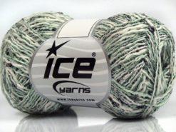 Lot of 8 Skeins Ice Yarns SALE SUMMER (40% Cotton) Yarn White Mint Green Black Light grey
