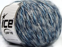 Lot of 8 Skeins Ice Yarns SALE WINTER (30% Wool) Yarn Blue Shades White Light Grey