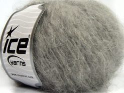 Lot of 8 Skeins Ice Yarns KAN MOHAIR (20% Mohair 25% Wool) Yarn Grey Shades