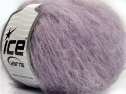 Lot of 8 Skeins Ice Yarns KAN MOHAIR (20% Mohair 25% Wool) Yarn Light Lilac
