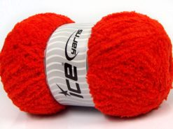 Lot of 4 x 100gr Skeins Ice Yarns PUFFY (100% MicroFiber) Yarn Orange